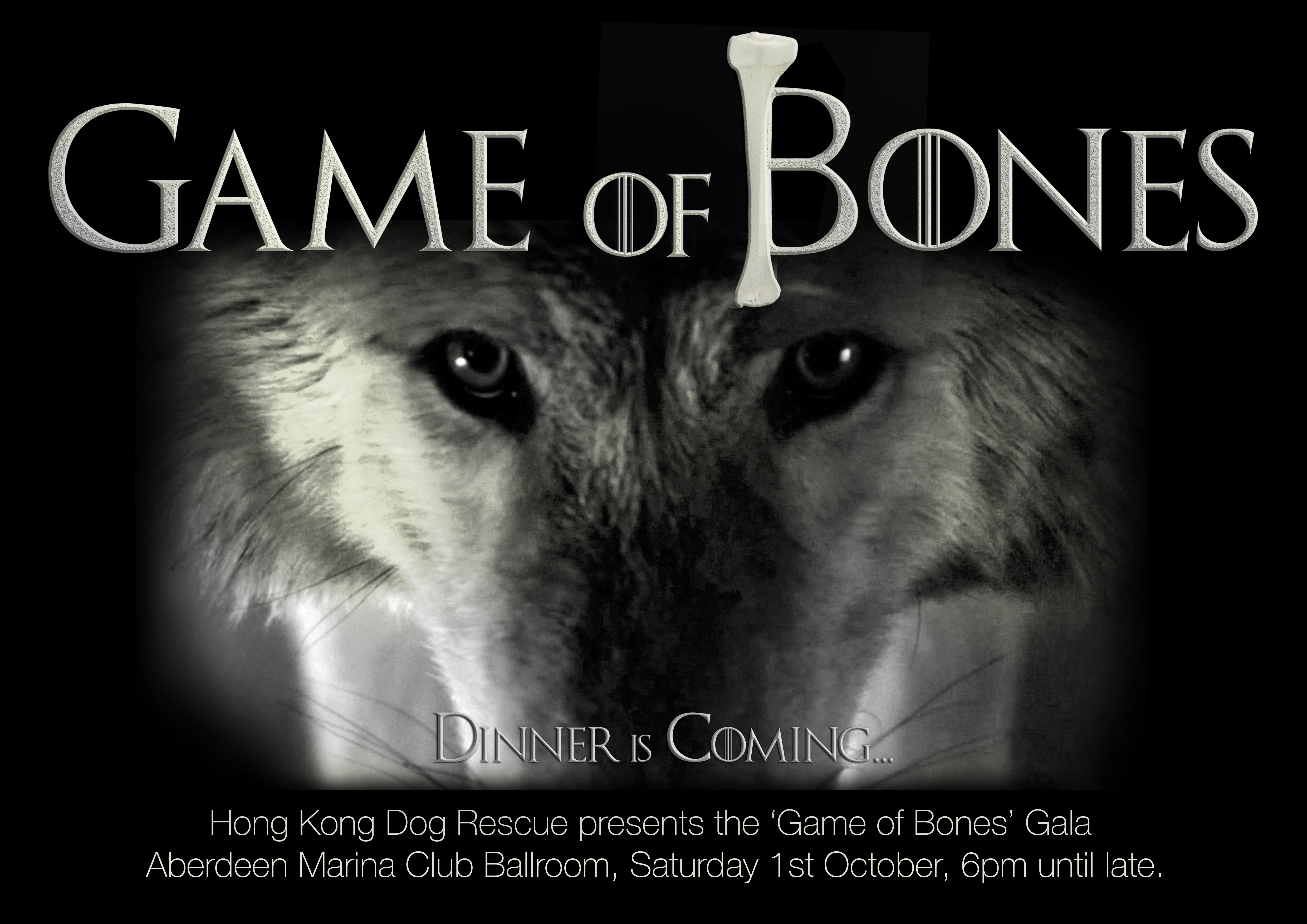 HKDR Official Invitation to Game of Bones - Dinner is coming